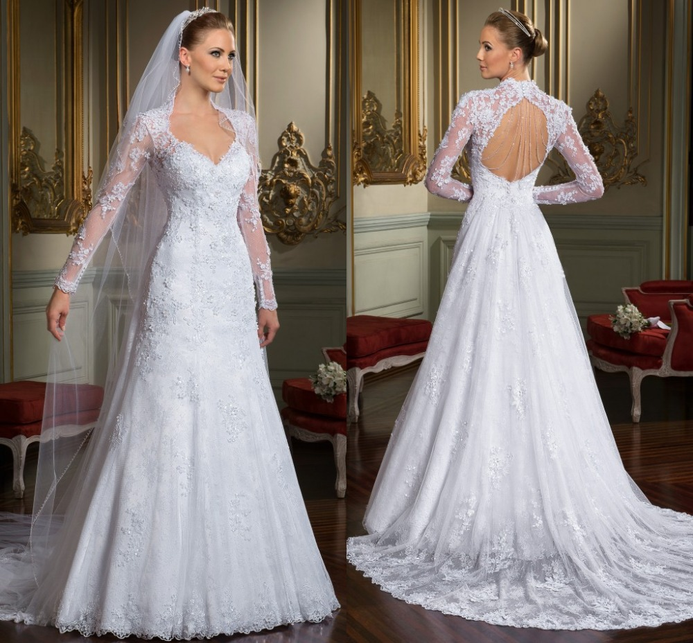 Perfect Wedding Gowns: 2017 Perfect Elegant Full Sleeves Wedding Dresses With