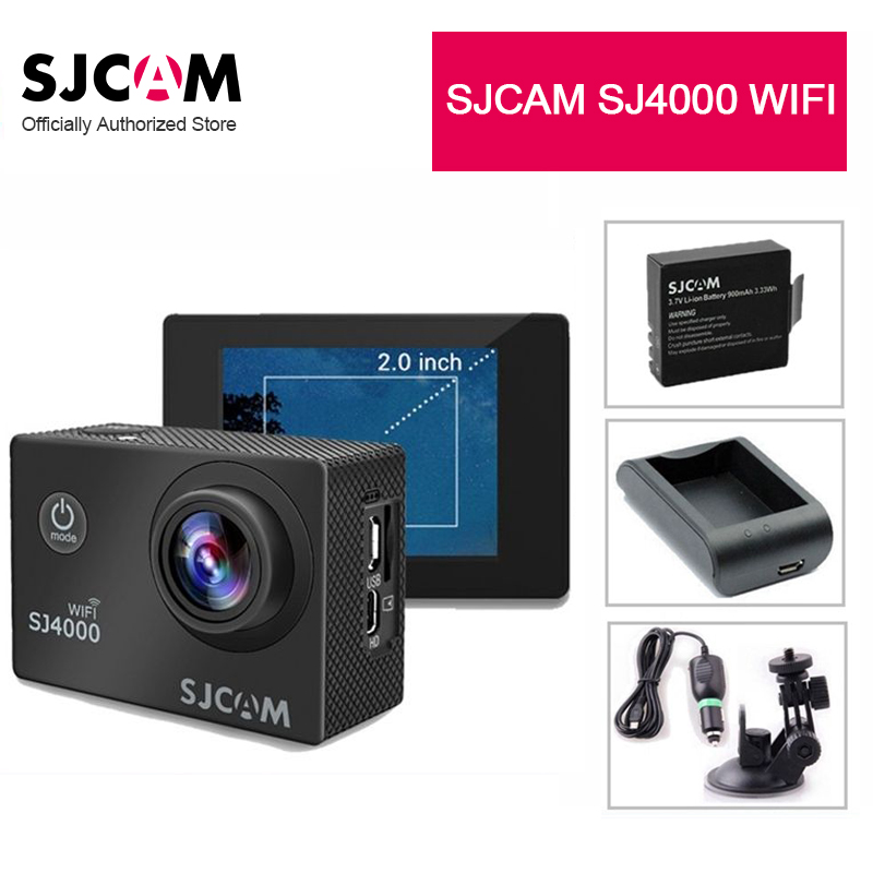 SJCAM SJ4000 WiFi Sports Action Helmet  Camera  2.0in Large Screen Waterproof DV Full HD 1080P 170 Degree Wide Angle Lens other sjcam wifi sj4000 wifi 1080p hd gopro dv 30 original sjcam wifi version sj4000 wifi 1080p full hd gopro camera