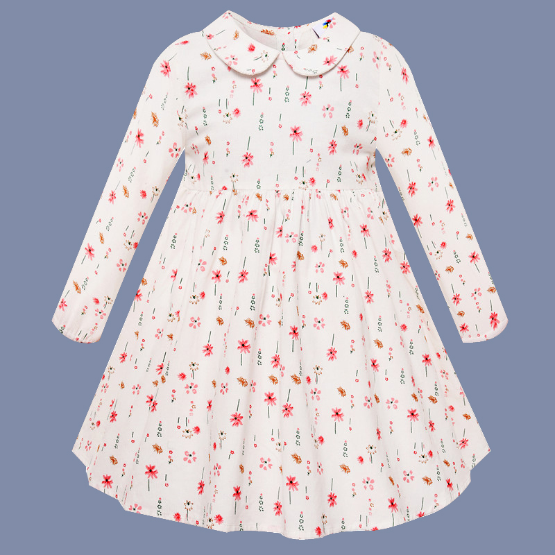 Girls Dress Long Sleeve 2018 Autumn Winter Kids Dresses For Girls Flower Print Children Princess Dresses Toddler Girl Clothing autumn girl dress print long sleeve new brand princess dress clothes rose flower kids pattern costumes vestido clothing for kids page 1