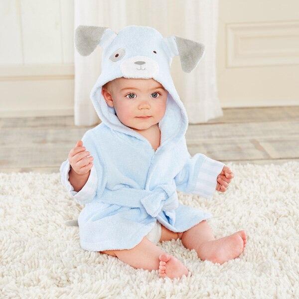Розничная ; банные халаты для малышей; детское банное полотенце; Банное полотенце с капюшоном для младенцев; банный халат с рисунками животных; модельный банный Халат - Цвет: dog0-2Y baby