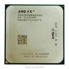 CPU Processor AMD FX-6100 Am3  Fd6100wmw6kgu-Socket Six-Core Ghz Fx-Series