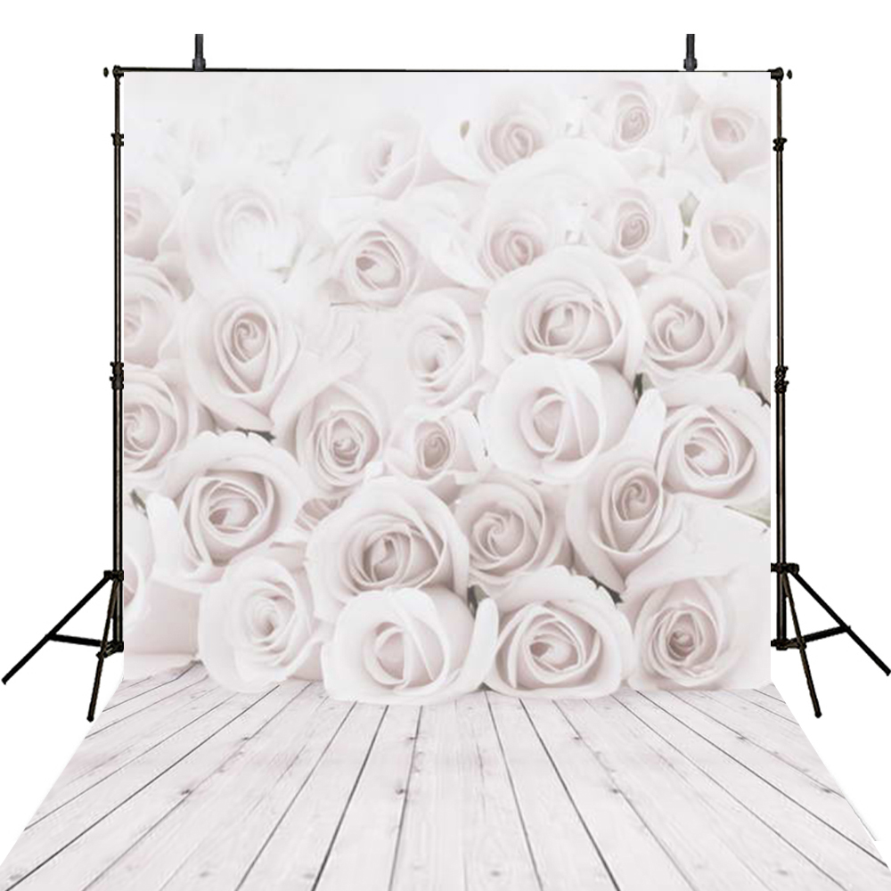 Girls Photography Backdrops White Flowers Backdrop For Photography