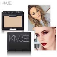 Polvo facial de KIMUSE base Mineral suave control de aceite brillo corrector blanqueamiento maquillaje polvo prensado