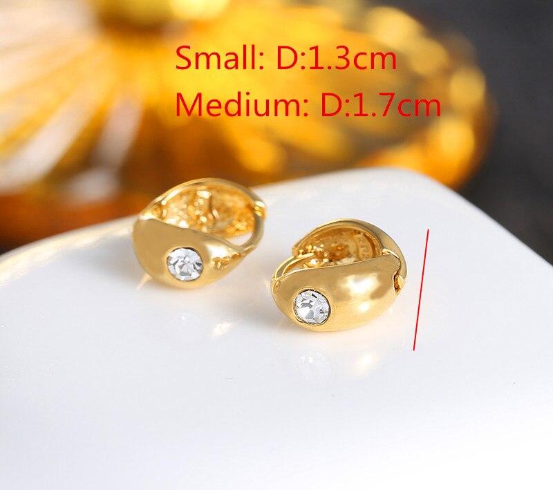 Bangrui Fashion Korean Brand Jewelry Simple One Karat Earring Gold ...