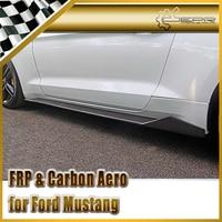 Estilo do carro Para Ford Mustang 2015 MX Estilo Fibra De Carbono Side Skirt Extensão