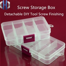 Tool Parts Storage Box Plastic Transparent Classification Box Screw Storage Box Small Lattice EDC Multi-layer Storage Box t k excellent practical tool box screws storage black simple portable tool storage box self tapping screws device plastic 1pcs