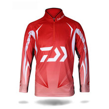 Outdorr Sports Brand Long Sleeve Fishing Clothing Vests Quick-Drying Breathable Anti-UV Sun Protection Red Black Men Jacket
