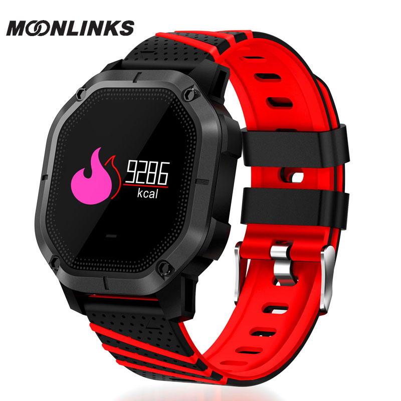 Moonlinks K5 Heart rate detection smat watch Blood oxygen detection silicone watch Blood pressure detection monitor cardiaco logo detection