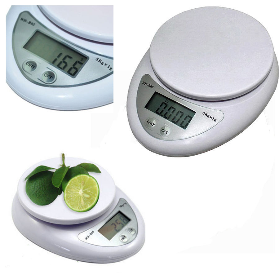 5kg 5000g / 1g Food Scale Digital Kitchen Electronic Pager Electronic Weighing LED WH-B05 Weight Loss Scale For Reasonable Diet