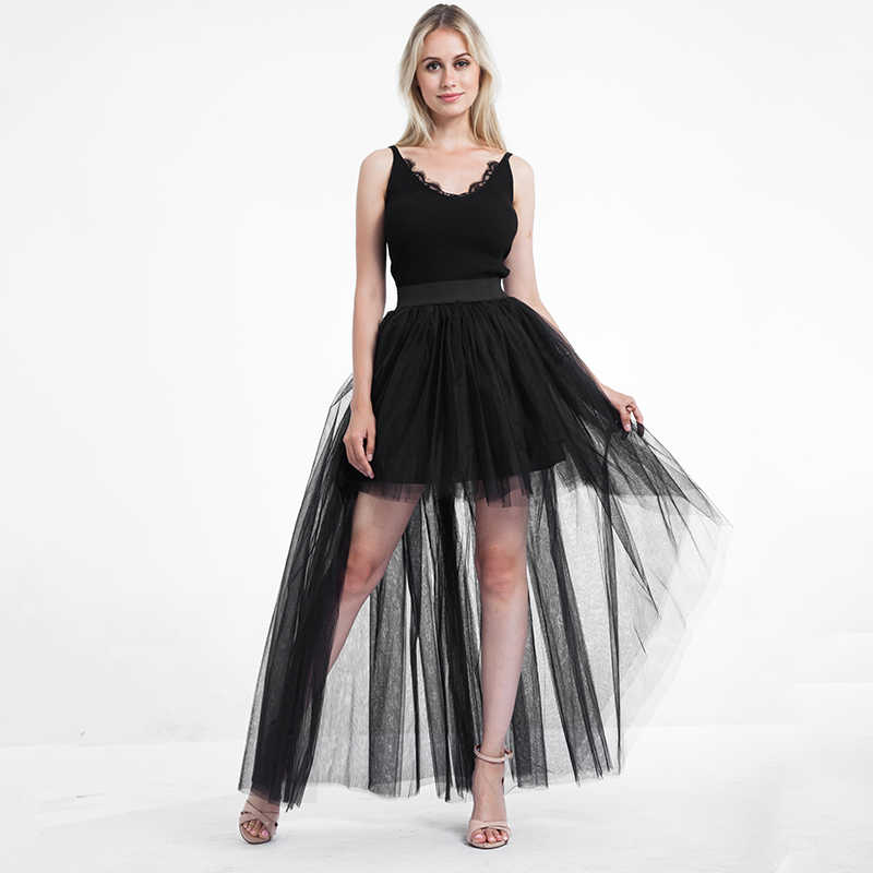 038cf47bb woman fashion 2019 korean summer asymmetrical tulle skirt high waist  transparent sexy skirt solid midi tutu