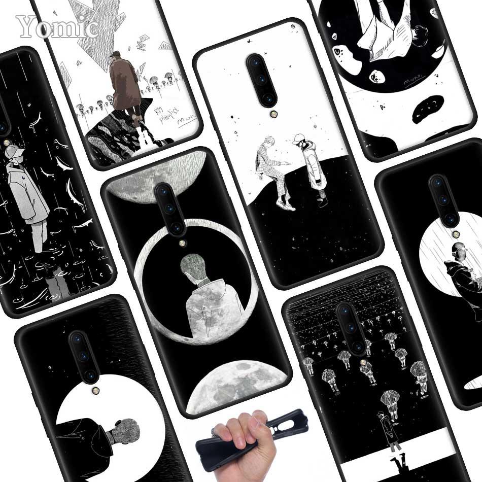 RM Mono 2018 Mixtape Black Soft Case for font b Oneplus b font font b 7