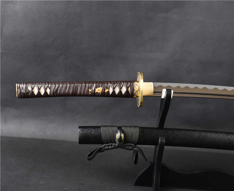 SHI JIAN Handmade samuraj Katana japoński miecz ostry Iaido szkolenia Espadas Full Tang 1095 nóż do cięcia stali węglowej Katana