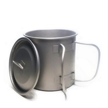 Titanium cup with Folding Wire Handle with cover Outdoor Portable water cup Lightweight Beer mug Can keith titanium cup outdoor cup beer mug outdoor portable camping cup