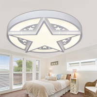 STAR LED ceiling lamp living room modern round bedroom book room restaurant lighting wrought iron ceiling light ZA82135