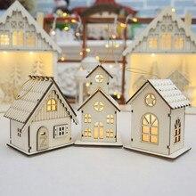 New year Christmas Led Luminous Cabins Pendant Table Cabins Pendant Ornaments