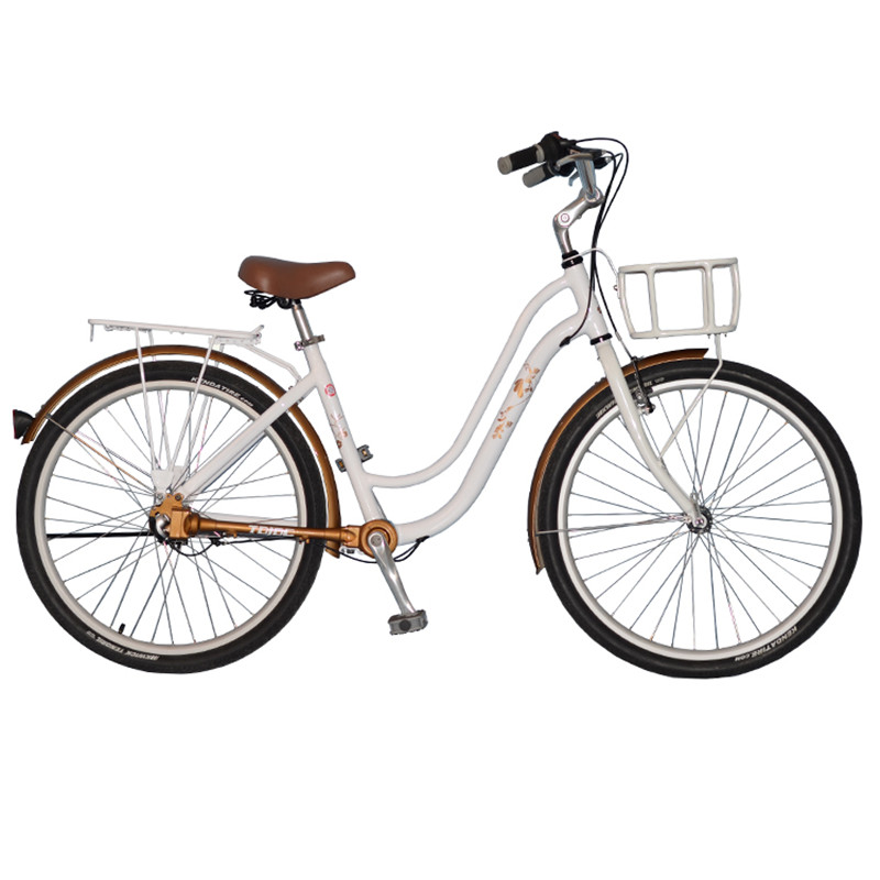 26 Retro Style 3-Gear Shaft Drive No Chain Commuter Bike Fahrrad for Girls, Ladies Bicycle, City Bike image
