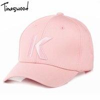 TIMESWOOD 2017 New K Letter Baseball Caps For Women S Bone Hat Pink Black White