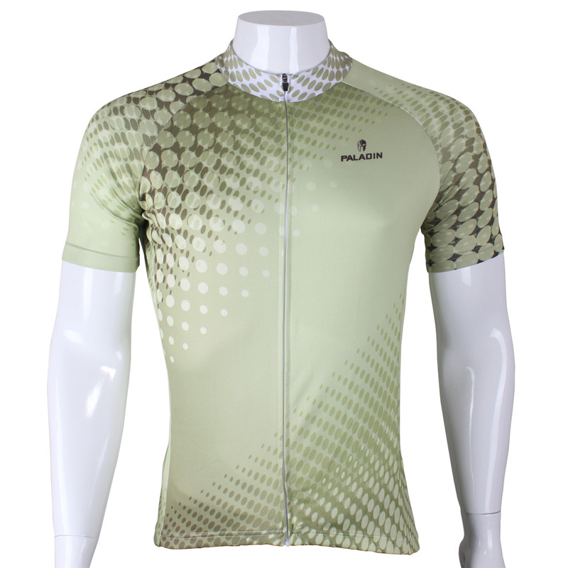 CYCLING JERSEYS New Polka Dot Men's Cycling Jersey top Sleeve Breathable Bike / Bicycle Shirts Green Cycling Clothing Size S-6XL 2016 new men s cycling jerseys top sleeve blue and white waves bicycle shirt white bike top breathable cycling top ilpaladin