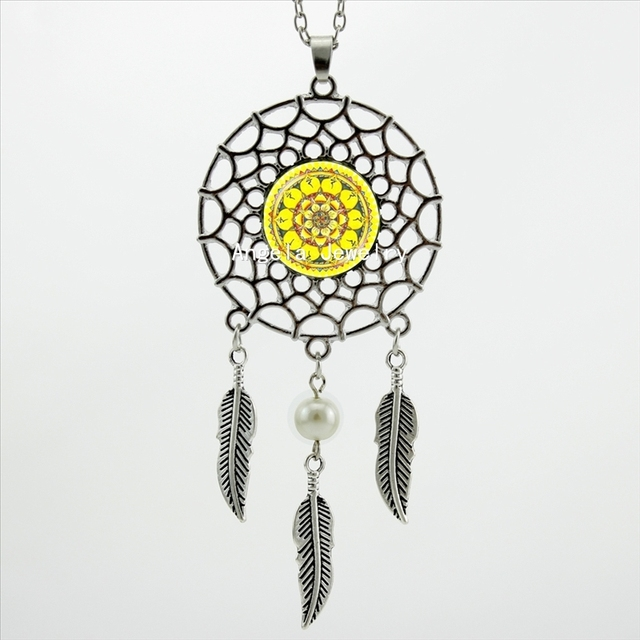 2017 trendy style yellow flower necklace flower art jewelry wings 2017 trendy style yellow flower necklace flower art jewelry wings shaped sweater chain dream catcher accessory mightylinksfo