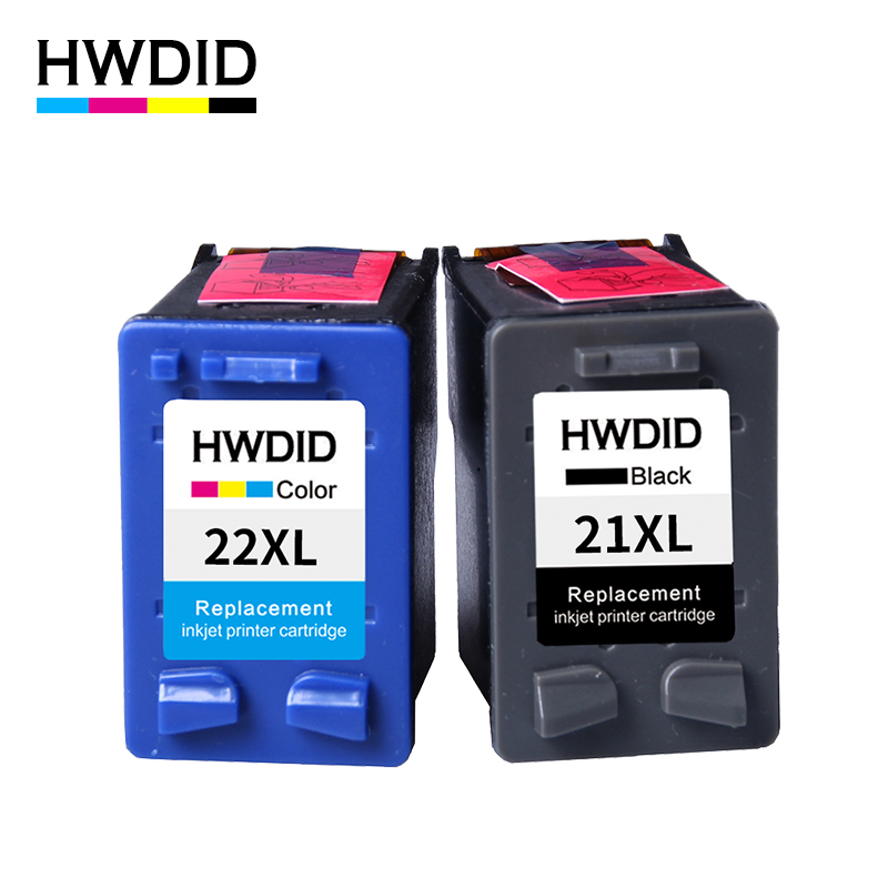 HWDID 21XL 22XL Refilled Ink Cartridge replacement for HP 21 22 use for Deskjet 3915 1530 1320 1455 F2100 F2180 F4100 F4180
