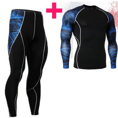 New Fashion Mens Compression 3D Print Quick Dry Compression Tight Pants Tights Skinny Leggings Bottom Fitness Bodybuilding Pants