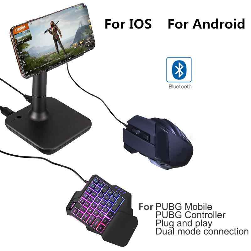 BEESCLOVER Conversor PUBG G3 PUBG Controller Gamepad para IOS Android Móvel para PC Do Bluetooth USB Teclado Mouse Converter r25