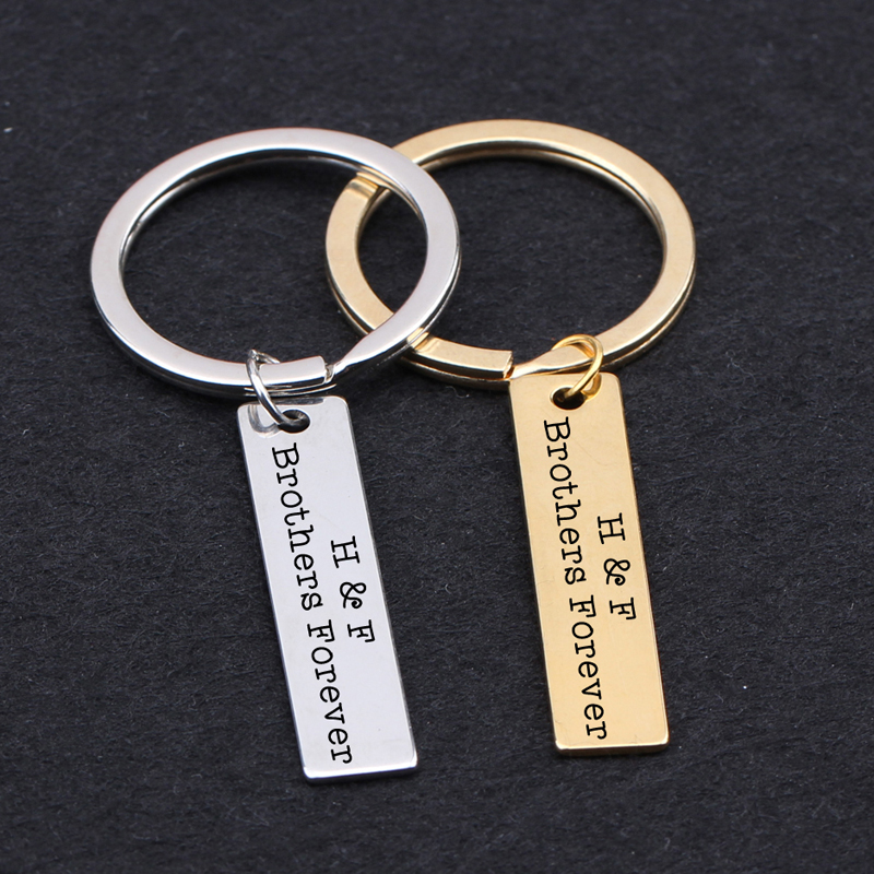 Keychain Engraved H & F Brothers Forever Personalized Customed ...