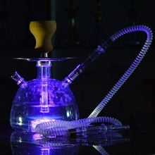 High Quality Cheap NEW design acrylic Hookah Set Hot Sell LED light Styles colorful Russian Shisha led hookah