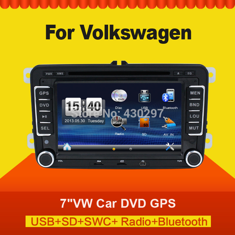 new 7 2din car dvd gps player for vw golf 4 golf 5 6 polo. Black Bedroom Furniture Sets. Home Design Ideas