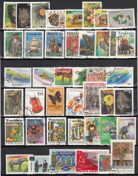 1000 PCS / lot Lot All Different Postage Stamps With Post Mark In Good Condition For Collection timbri stempel 1