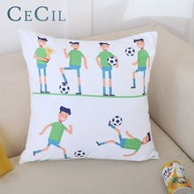 Cecil Cushion Cover Sports Football Linen Cotton Home Decor Pillowcase Living Room Sofa Office Car Throw Pillow