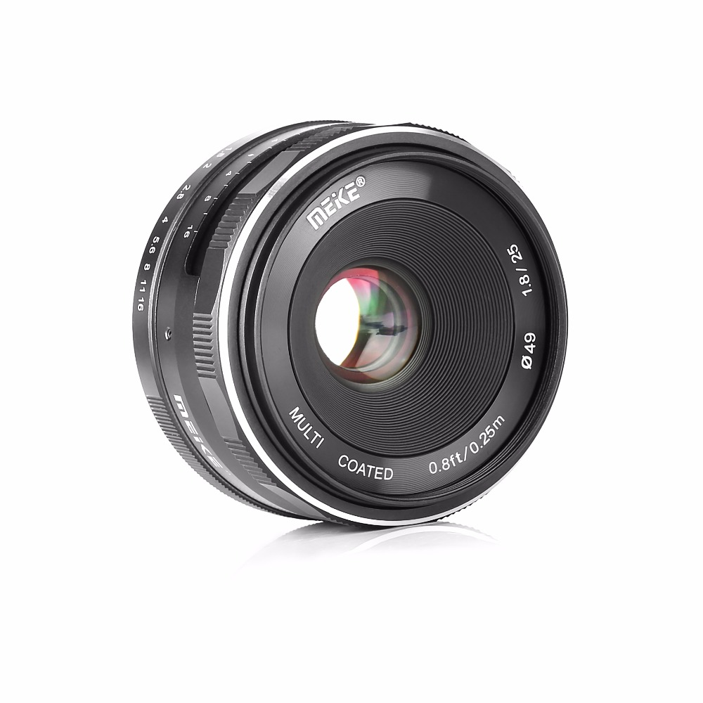 Meike MK 25mm f/1.8-16 Large Aperture Wide Angle Lens Manual Focus Lens for Sony E-mount Mirrorless Cameras with APS-C