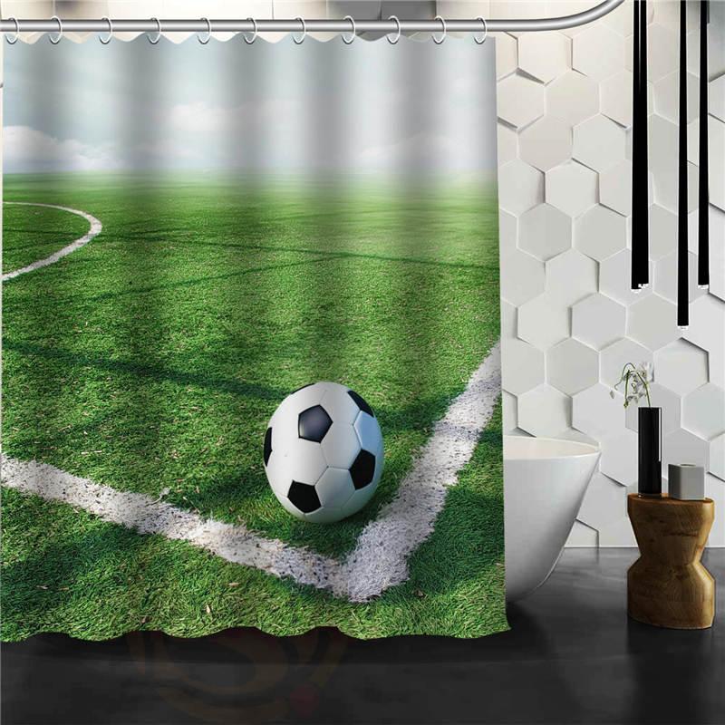 Custom Football Shower Curtain Bathroom Decor Various Sizes Free  Shipping(China (Mainland))