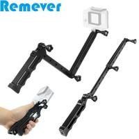 3 Way Foldable Aluminum Alloy Mount Holder Handheld Selfie Stick Portable Mini Monopod for GoPro Hero SJcam Yi Action Cameras