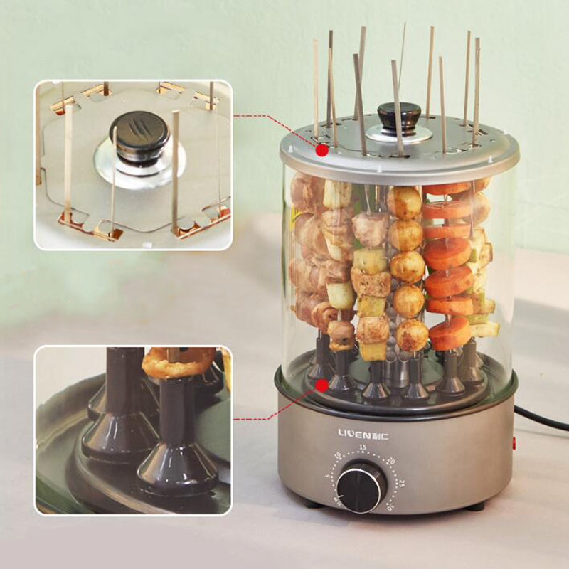 Automatic Rotation Barbecue Machine Electric Oven Kebab Household Indoor Smoke Free Small Lamb Kebab in Electric Grills Electric Griddles from Home Appliances