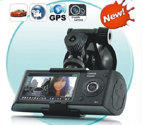 120 Degrés Double Lentille GPS 3D G-Capteur 2.7 TFT LCD De Voiture Caméra Vidéo DVR Enregistreur De Voiture Caméra Enregistrement de Cycle Livraison Gratuite!