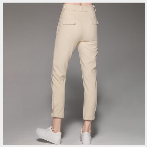 Haute 2018 Khaki Maigre Outwear Femelle Cheville Nouvelle Crayon Élastique Femmes Mode Solide Automne Qualité longueur Occasionnel De Pantalon 5qzvwT76