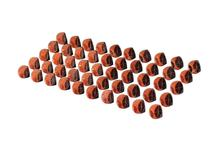 50PCS Copper Coated 1inch Corner Cube Prism, Plated 25.4mm Trihedral Retroreflector*50