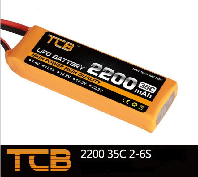 TCB RC lipo battery 11.1v 2200mAh 35C 3S RC airplane battery factory-outlet goods of consistent quality free shipping