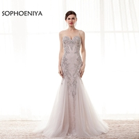 New Arrival Lace Mermaid Evening Dress 2018 Beaed Crystals Ever Pretty Avondjurk Long Dresses For Prom