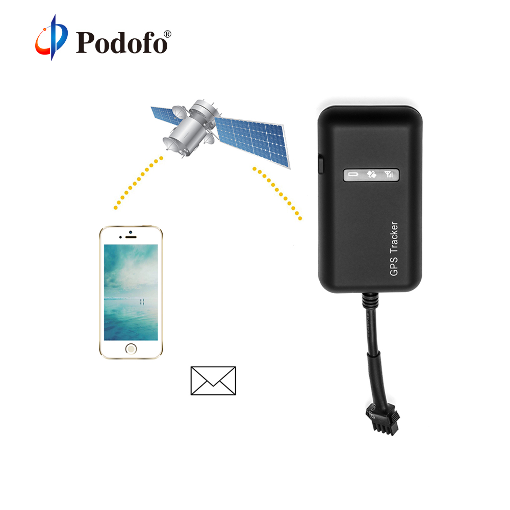 Podofo GT02 Mini Car GPS Tracker TK110 Realtime GSM GPRS GPS Locator Vehicle Tracking Device Google Link Real Time GPS System