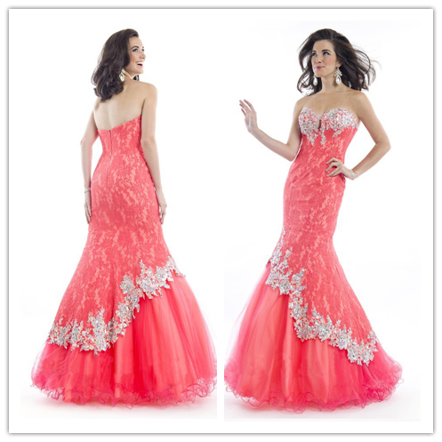 FREE SHIPPING OC 2402 Noticeable coral and fuchsia designer evening and 21st  birthday party dresses women-in Evening Dresses from Weddings   Events on  ... eb7be8342ac3