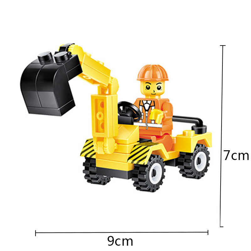 City Build Model Building Blocks Figures Engineer Forklift Truck Block Bricks Sets Educational Toys For Children Kids Gifts