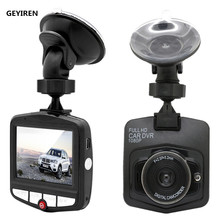 GEYIREN Black Car DVR font b Camera b font Dashcam Full HD 1080P Video Registrator Recorder