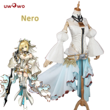 UWOWO Nero Cosplay Claudius Caesar Augustus Germanicus Kostyme Ekstra Fate Grand Order Red Saber Kostyme Nero Fate Cosplay Women