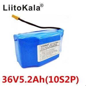 """Image 2 - Batería de litio de 36V y 5,2ah para patinete eléctrico de 2 ruedas de alto drenaje, batería de equilibrio para ajuste de equilibrio automático de 6,5 """"y 7"""""""