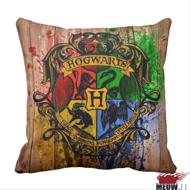 harry potter hogwarts multi size throw pillow case free shipping in