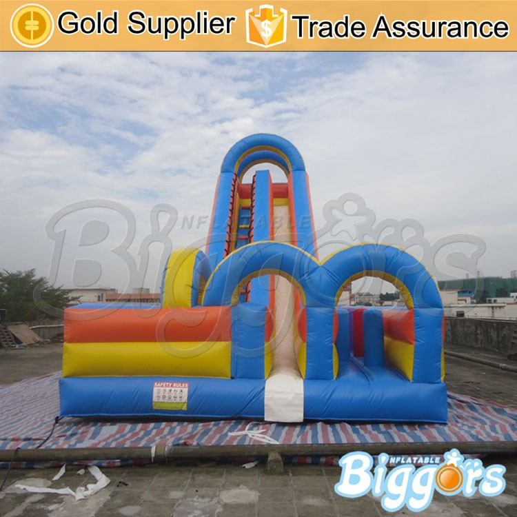 Blue Inflatable Large Slide For Ourdoor Kids Games