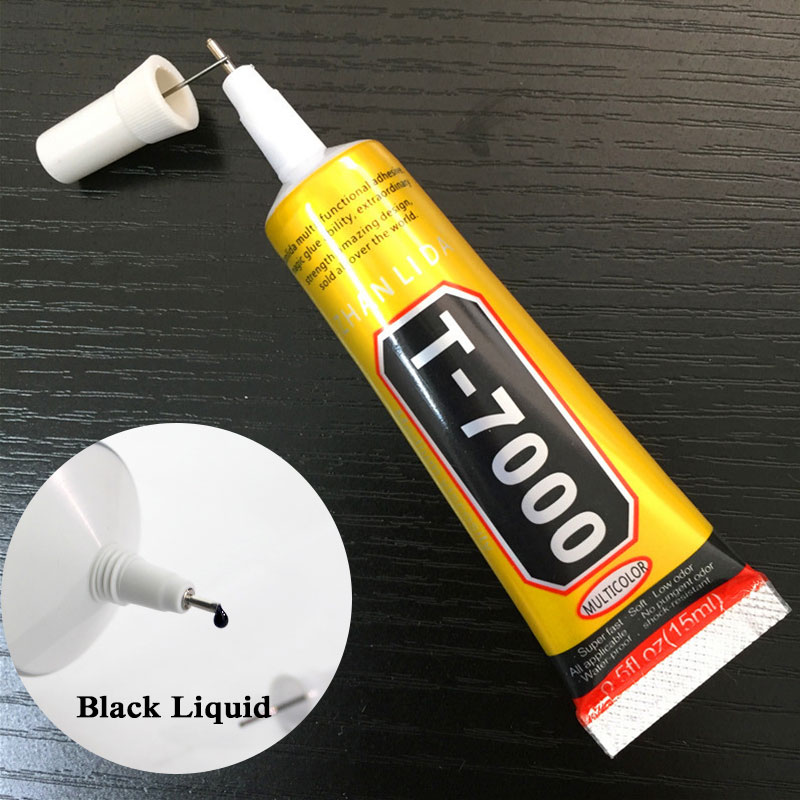 15ml T7000 Glue Multipurpose Adhesives Super Glue T-7000 Black Liquid Epoxy Glues For Diy Crafts Glass Phone Case Metal Fabric