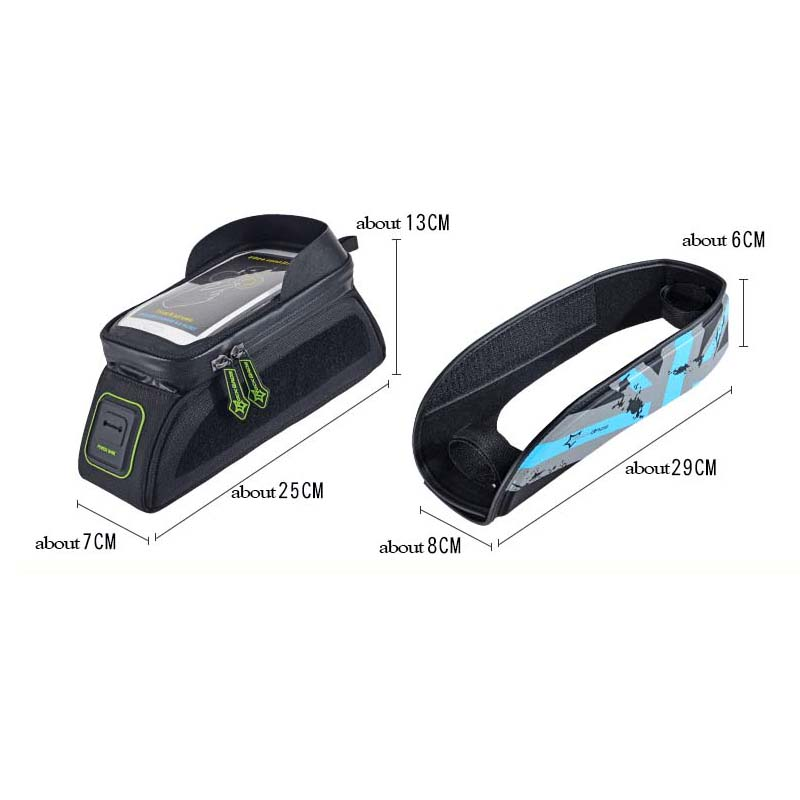 Rockbros velosipēdu soma 5.8 6.0 collu telefona maciņš - Riteņbraukšana - Foto 5